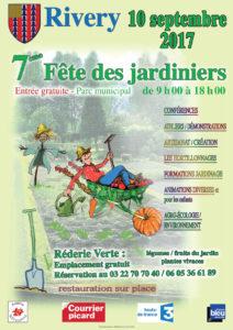 Affiche Fête des Jardiniers Rivery 2017
